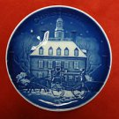 1986 Bing & Grondahl Christmas Eve in Williamsburg Plate First Edition