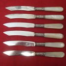 Vintage Mother of Pearl Group of 6 Fruit Knives