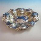 Oval Bowl Sterling Silver w/Floral Design   H150