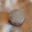 Silver Snuff Box - India 1/4 Quarter Rupee Coin 1906 (#CB17)