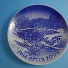 """2008 Bing & Grondahl Danish B&G Christmas Plate """"Along Haervejen"""""""