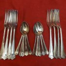 10 Spoons and 8 Forks - Samuel Peace Silverplate