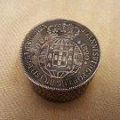 Silver Snuff Box -  Portugal 1 Cruzado Joao VI 1820 (#CB40)