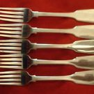 5 English Sterling Tipt Dinner Forks / George Adams London 1848  #2 (#2133)