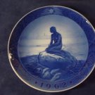 1962 Royal Copenhagen RC Christmas Plate Little Mermaid