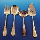 4 Avis Gold Gold Vermeil Stainless Steel Servers by VIP w/ Bird Design (#1603)