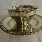 Silverplate Dip Dish with Attached Underplate