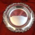 Silverplate Fruit Bowl with Fancy Floral Rim