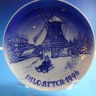 "1996  Bing & Grondahl Danish B&G Christmas Plate ""Winter at the Old Mill"""