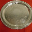 Round Silver Plate Tray by Wilcox International