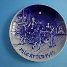"""1999 Bing & Grondahl Danish B&G Christmas Plate """"Dancing on Christmas Eve"""""""