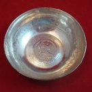 Antique Silver Bowl with 1780 Austria Maria Theresa Thaler Bullion Coin (#2)