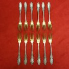 12 German 800 Silver Fruit Forks or Cocktail Forks (#2246)