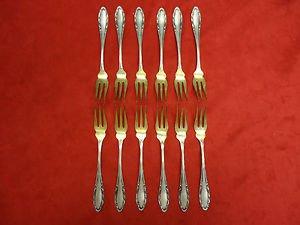 12 German 800 Silver Fruit Forks or Cocktail Forks (#2246)