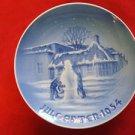 1954 BING & GRONDAHL B&G CHRISTMAS PLATE   BIRTH PLACE HANS CHRISTIAN ANDERSON