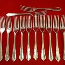 12 DuBarry Sheffield English Stainless Steel Forks