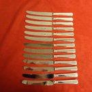 12 Samuel Peace Sheffield Stainless Dinner Knives in Pattern Grecian