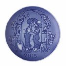 """2015 Bing & Grondahl B&G Children's Day Plate """"The First Kiss"""" New in Box"""