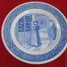 1971 Blue and White Swedish Rorstrand Mother's Day Plate 1971 First Edition