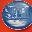 "1958  BING & GRONDAHL B&G CHRISTMAS PLATE  "" SANTA CLAUS """
