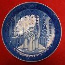 "1991 Royal Copenhagen Christmas Plate ""Festival of Santa Lucia"""