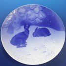 "1920 Bing & Grondahl Danish B&G Christmas Plate ""Hare in the Snow"""