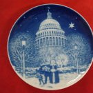 1990 BING & GRONDAHL CHRISTMAS IN AMERICA PLATE CHRISTMAS EVE AT THE CAPITOL