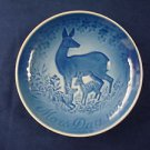 1975 BING & GRONDAHL B&G MOTHER'S DAY PLATE DOE & FAWNS