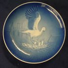 1984  BING & GRONDAHL B&G MOTHER'S DAY PLATE STORK & YOUNG