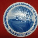 """1916 Bing & Grondahl Easter Paasken Plaque """"When the Black Swallow Comes"""""""