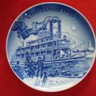 1995 BING & GRONDAHL CHRISTMAS IN AMERICA PLATE CHRISTMAS EVE ON THE MISSISSIPPI