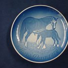 1972 BING & GRONDAHL B&G MOTHER'S DAY PLATE  MARE & FOAL