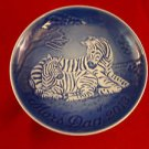 "2013 New Bing & Grondahl Mother's Day Plate ""Zebra with Foal"" In Stock"