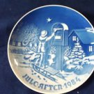 1984 CHRISTMAS PLATE BING & GRONDAHL B&G / GREAT ANNIVERSARY OR BIRTHDAY PRESENT