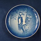 1980  BING & GRONDAHL B&G MOTHER'S DAY PLATE WOODPECKER & YOUNG