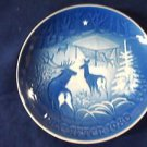 1980 CHRISTMAS PLATE BING & GRONDAHL B&G Christmas in the Woods
