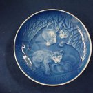 1982  BING & GRONDAHL B&G MOTHER'S DAY PLATE LIONESS & CUBS