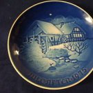 1975 CHRISTMAS PLATE BING & GRONDAHL B&G OLD WINTER MILL