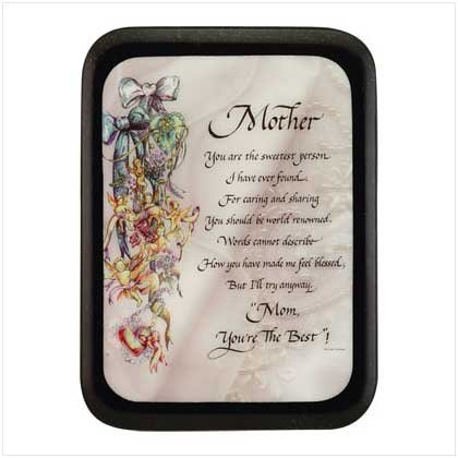 """Mother"" wall plaque"