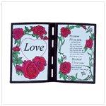 Poetic love plaque