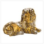 New!  Patchwork animal-print lion figurine