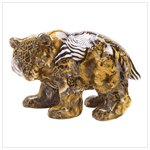 New! Patchwork animal-print bear figurine