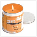 Orange Votive Candle Tin