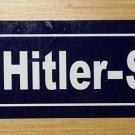 WWII WW2 Nazi German Adolf Hitler street sign Road