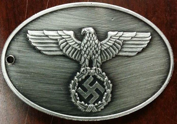 WWII Nazi German Gestapo Warrant disc criminal police badge