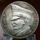 ADOLF HITLER 5RM coin 1935 WWII WW2 Nazi German Germany