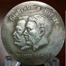 WWII WW2 Nazi German Hindenburg ADOLF HITLER Coin friendship medal