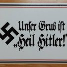 WWII WW2 Nazi German HEIL HITLER! Propaganda Metal sign
