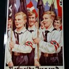 WWII WW2 Nazi German HJ Hitler Youth flag bearers Metal sign