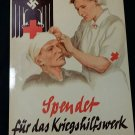 WWII WW2 Nazi German DRK Red Cross Nurse wounded soldier Metal sign